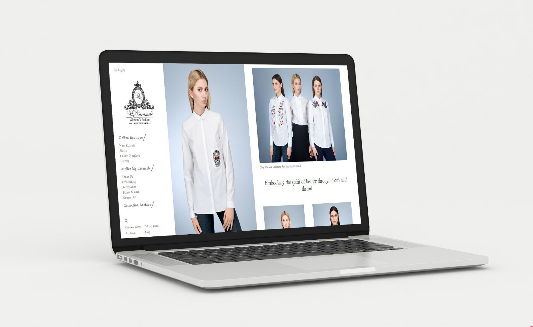 Сайт для голландского дома моды «My Caramele»