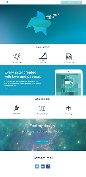 Author's landing page